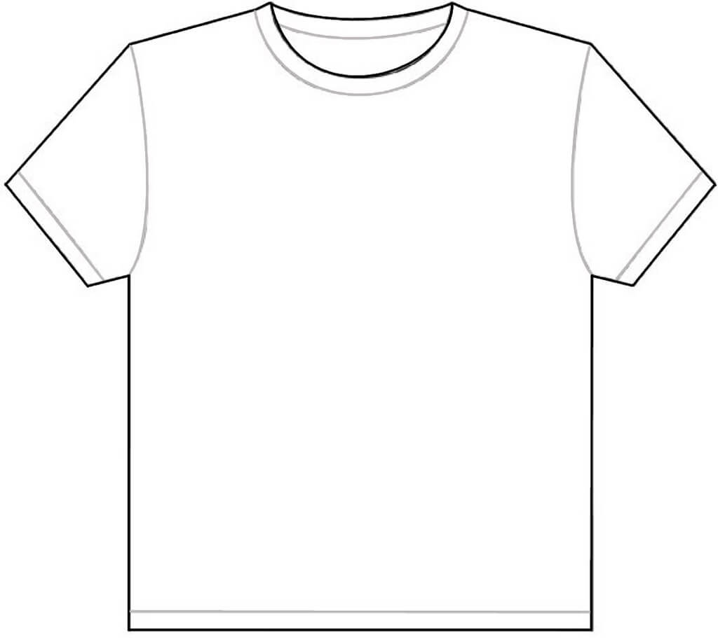 Free Printable T Shirt Template, Download Free Clip Art With Printable Blank Tshirt Template