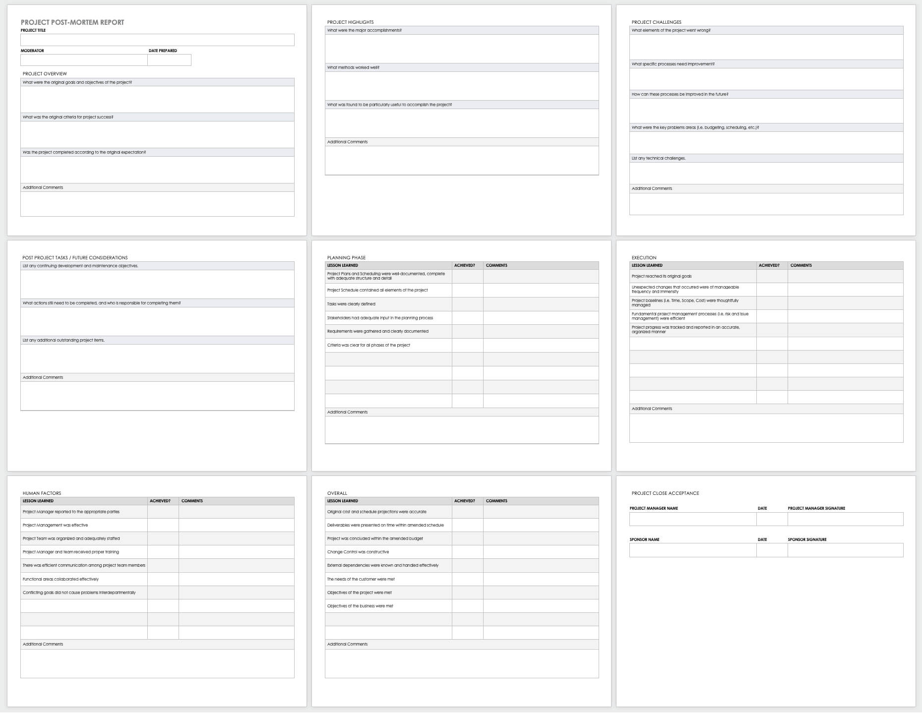 Free Project Report Templates | Smartsheet Intended For Work Summary Report Template