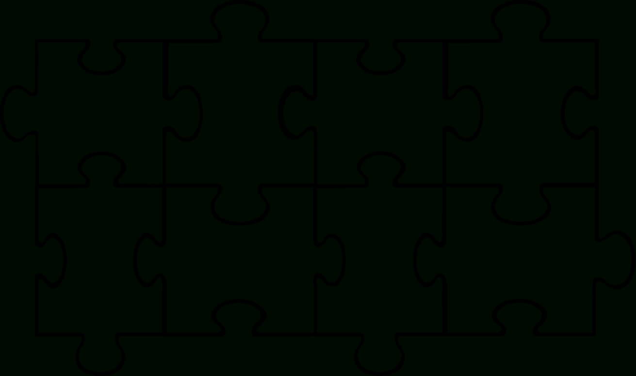 Free Puzzle Pieces Template, Download Free Clip Art, Free In Blank Jigsaw Piece Template