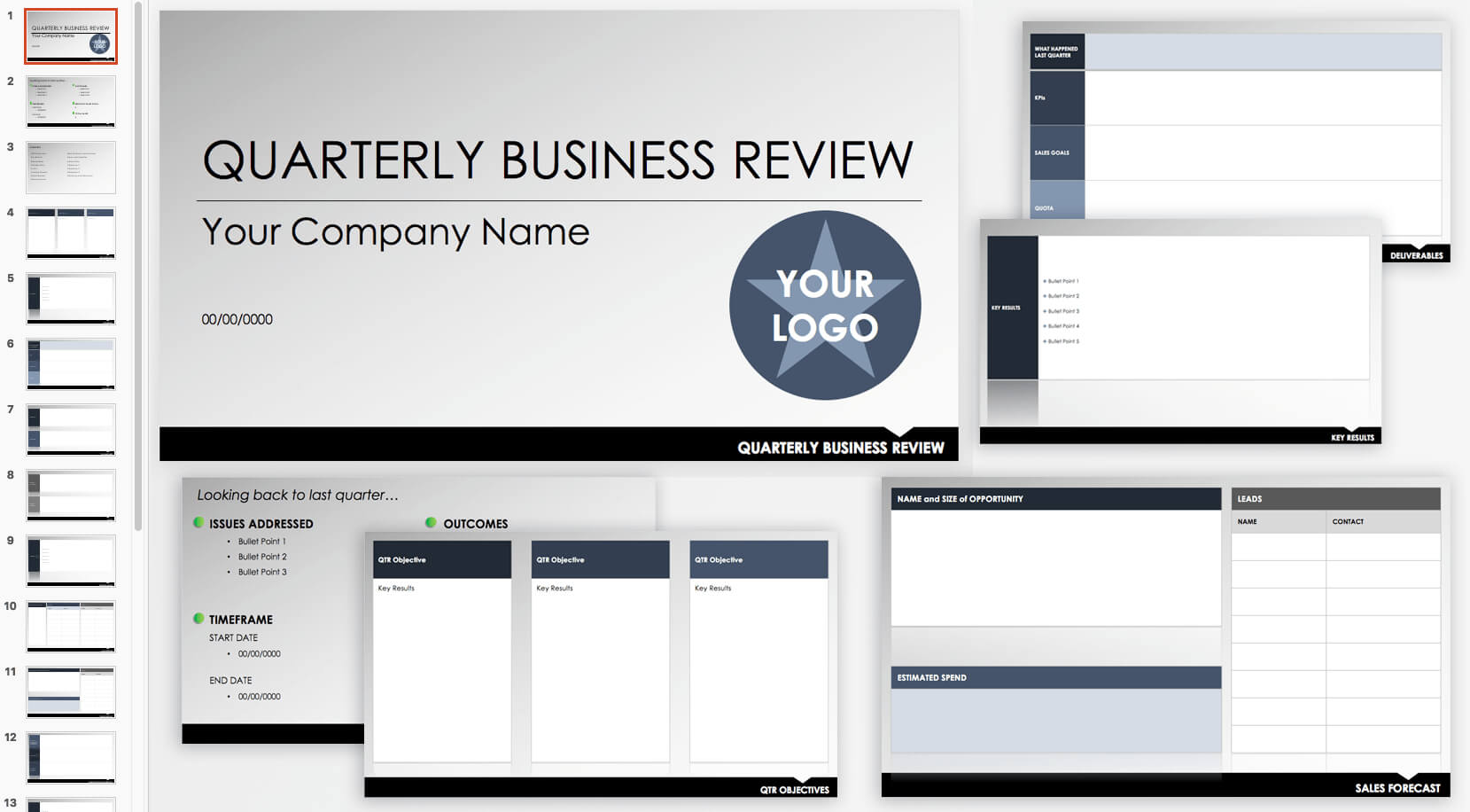 Free Qbr And Business Review Templates   Smartsheet Within Business Review Report Template