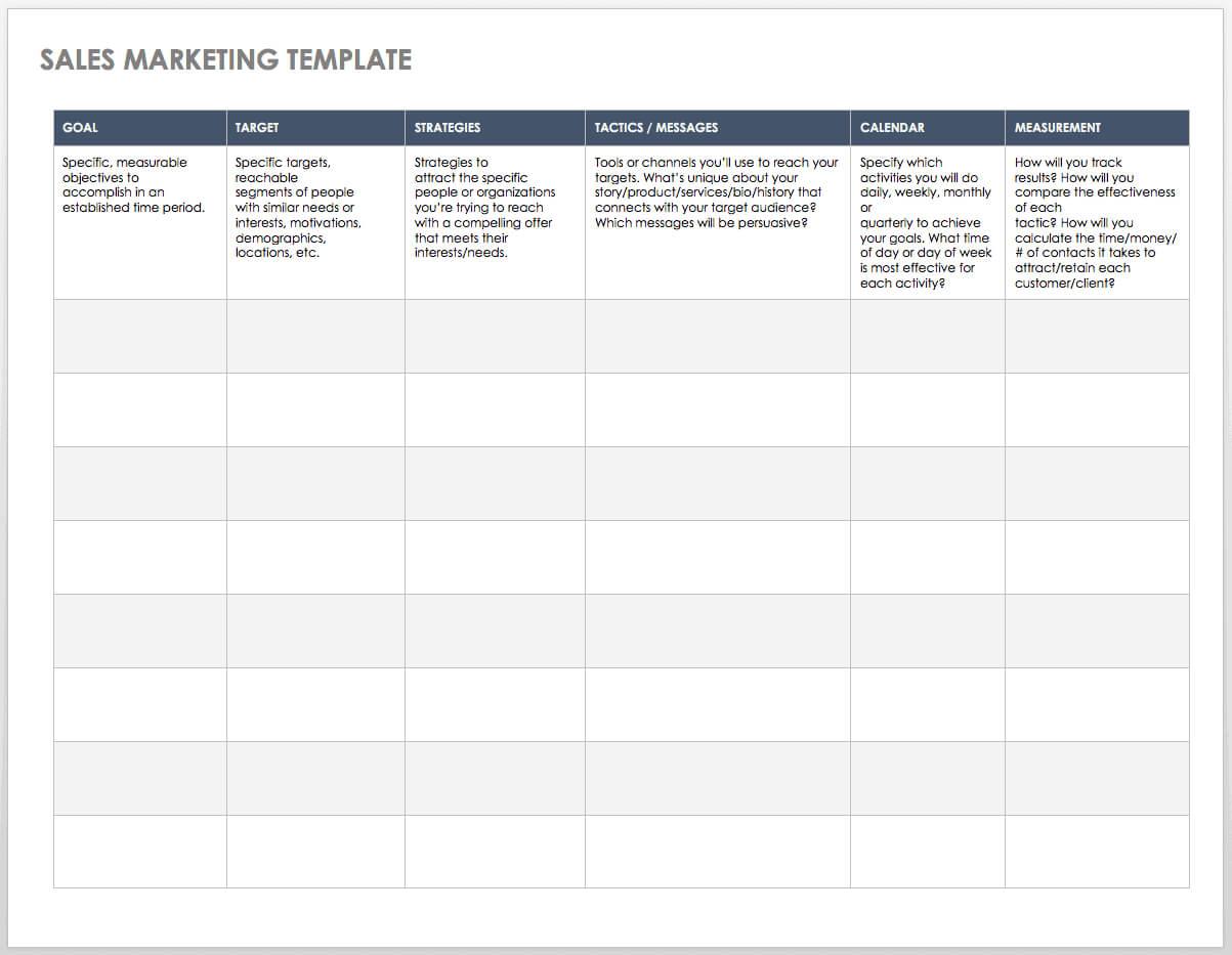 Free Sales Pipeline Templates | Smartsheet Inside Excel Sales Report Template Free Download