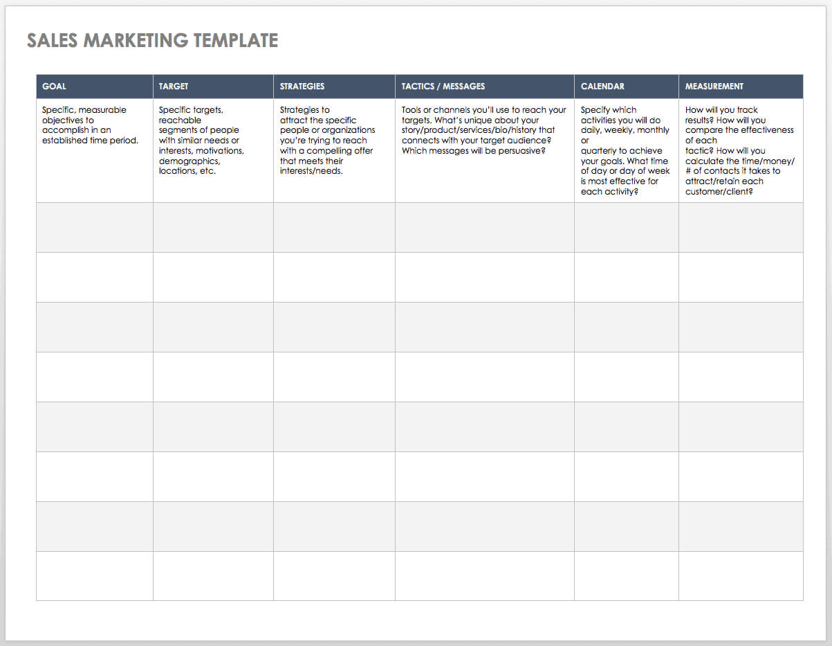 Free Sales Pipeline Templates | Smartsheet With Free Daily Sales Report Excel Template