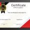 Free Sample Format Of Certificate Of Participation Template In Certificate Of Participation Template Word