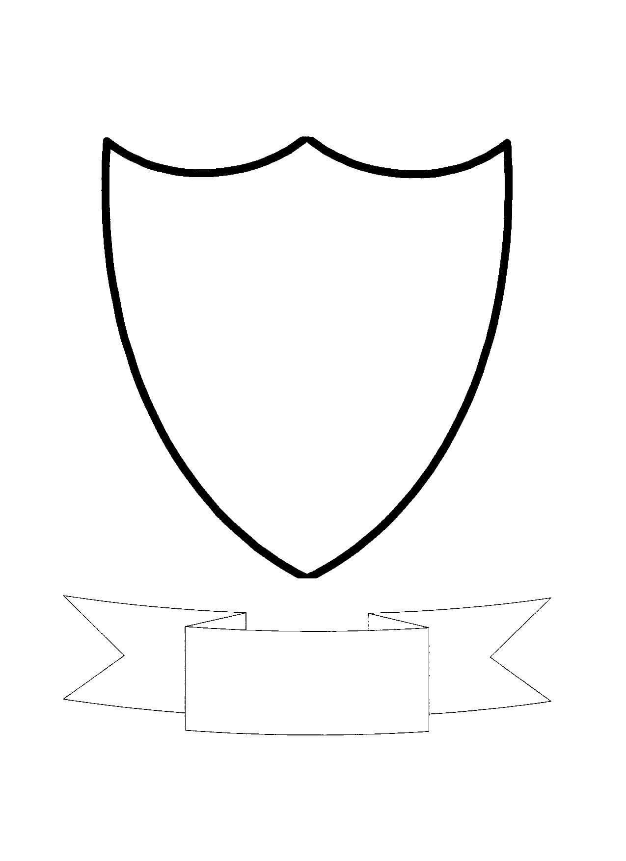 Free Shield Template, Download Free Clip Art, Free Clip Art Pertaining To Blank Shield Template Printable