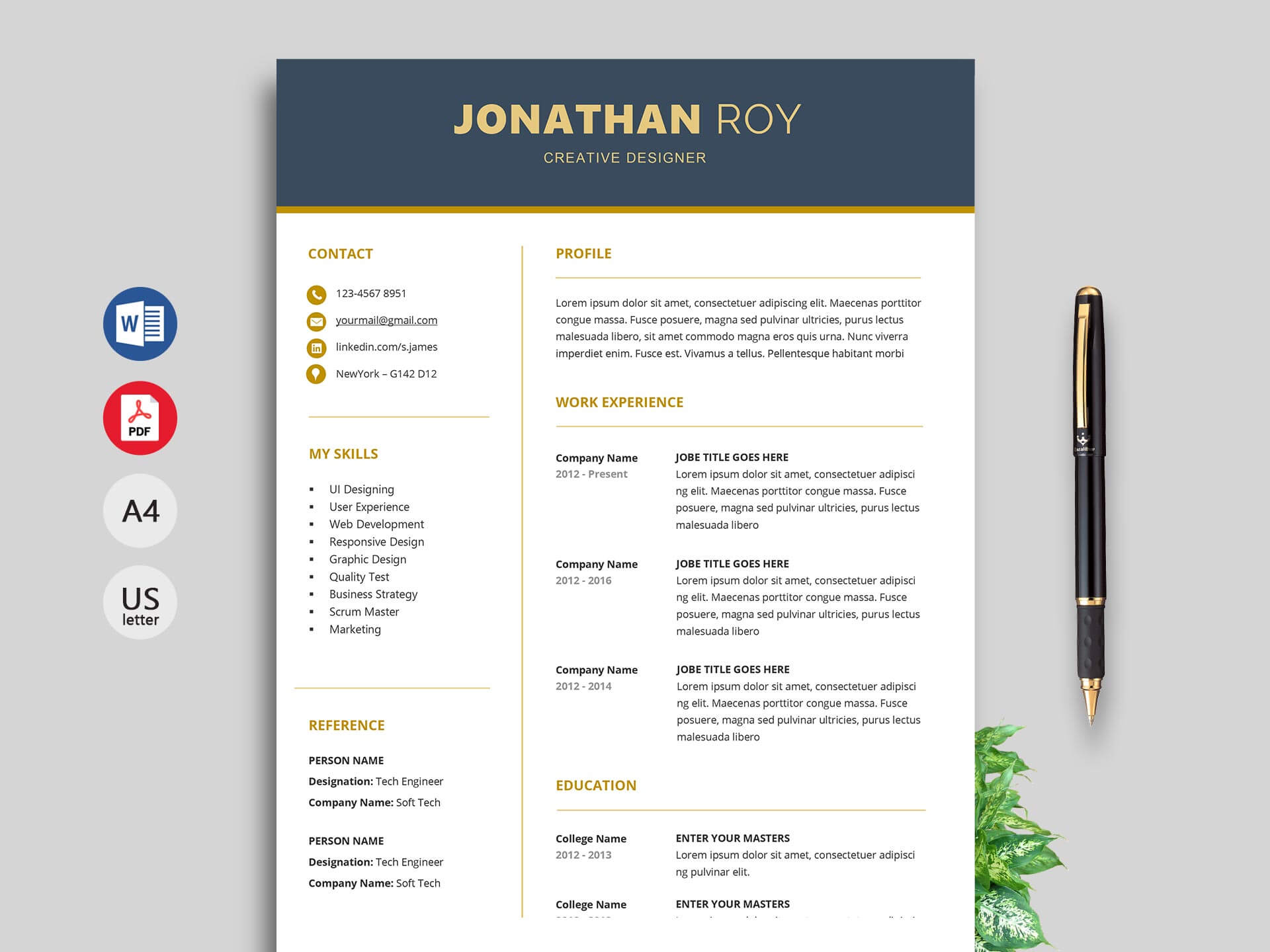 Free Simple Resume & Cv Templates Word Format 2020 | Resumekraft Throughout Free Downloadable Resume Templates For Word