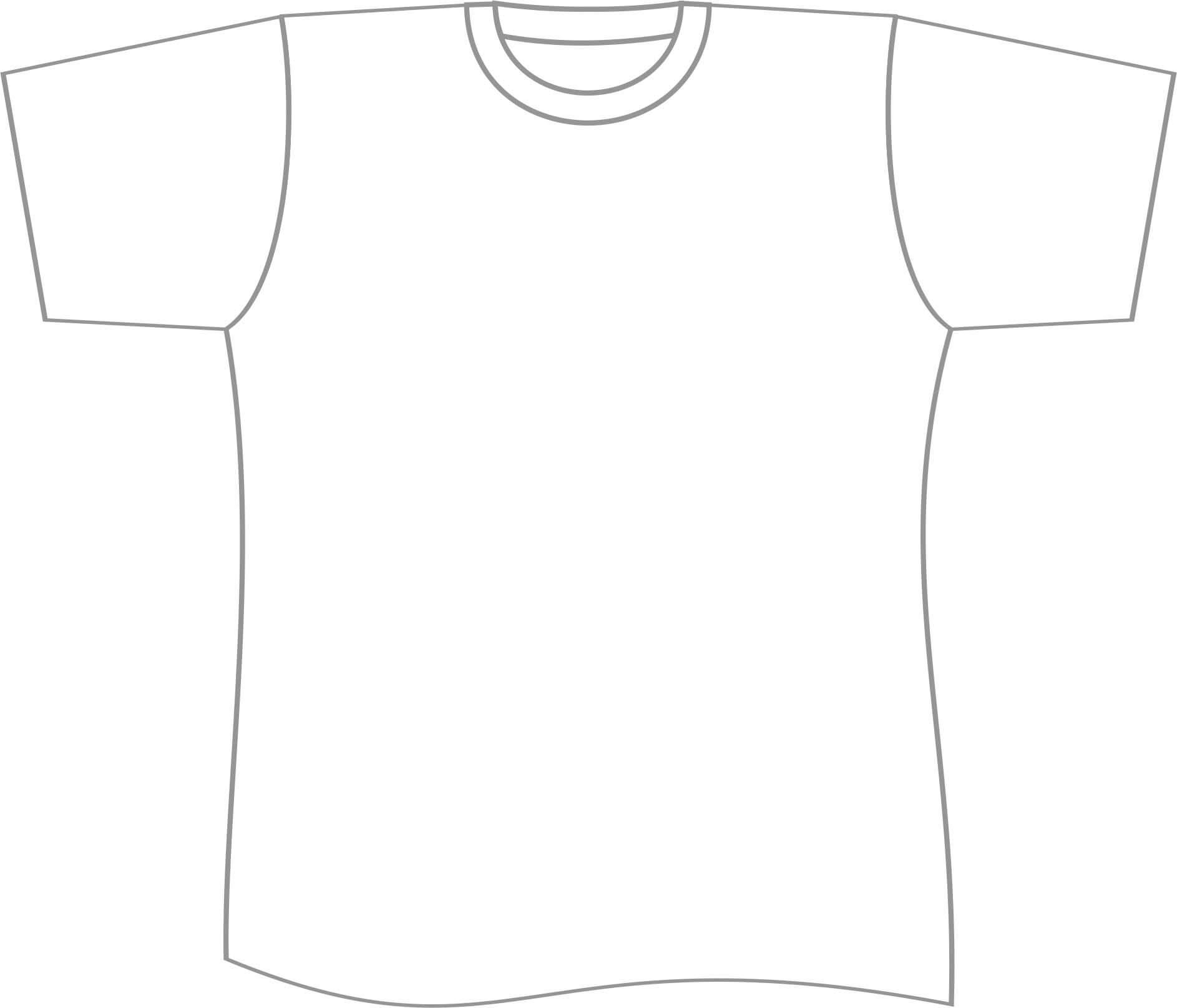 Free T Shirt Template Printable, Download Free Clip Art Regarding Printable Blank Tshirt Template