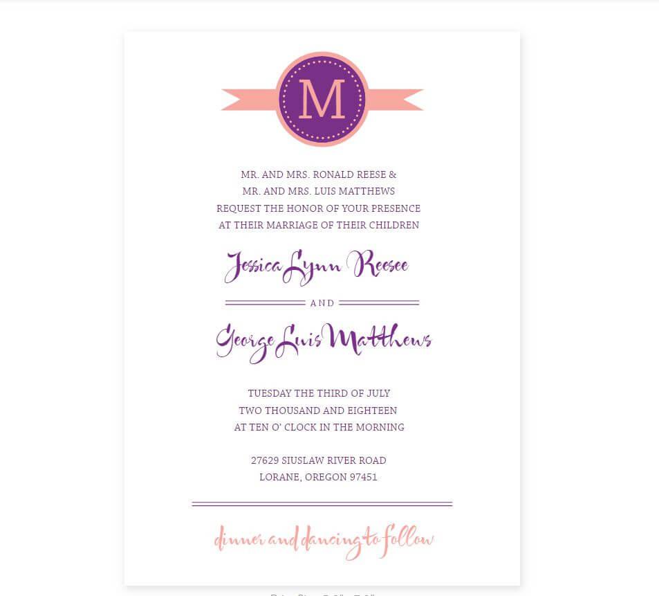 Free Wedding Program Templates You Can Customize In Free Printable Wedding Program Templates Word