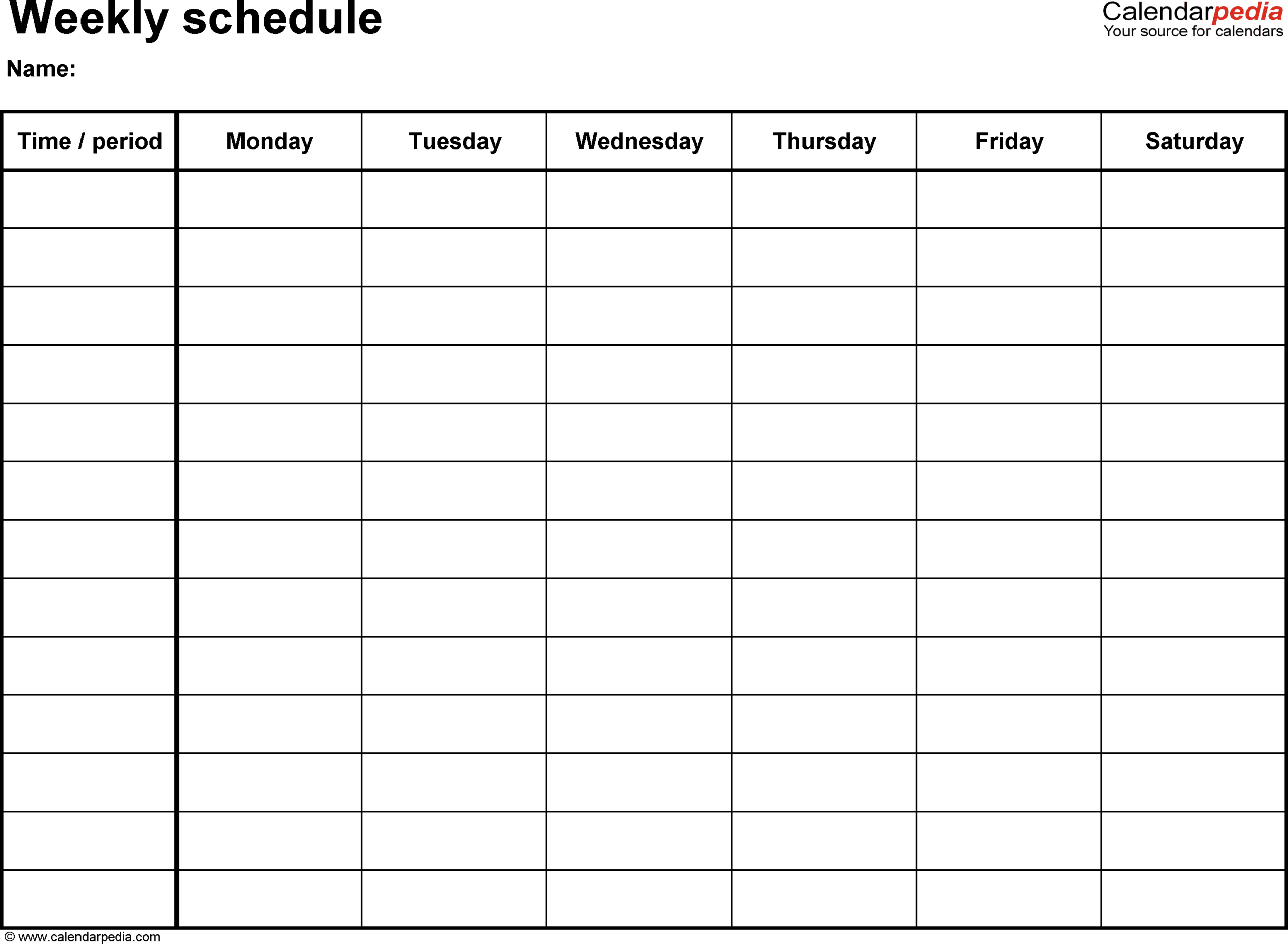 Free Weekly Schedule Templates For Word – 18 Templates Within Work Plan Template Word