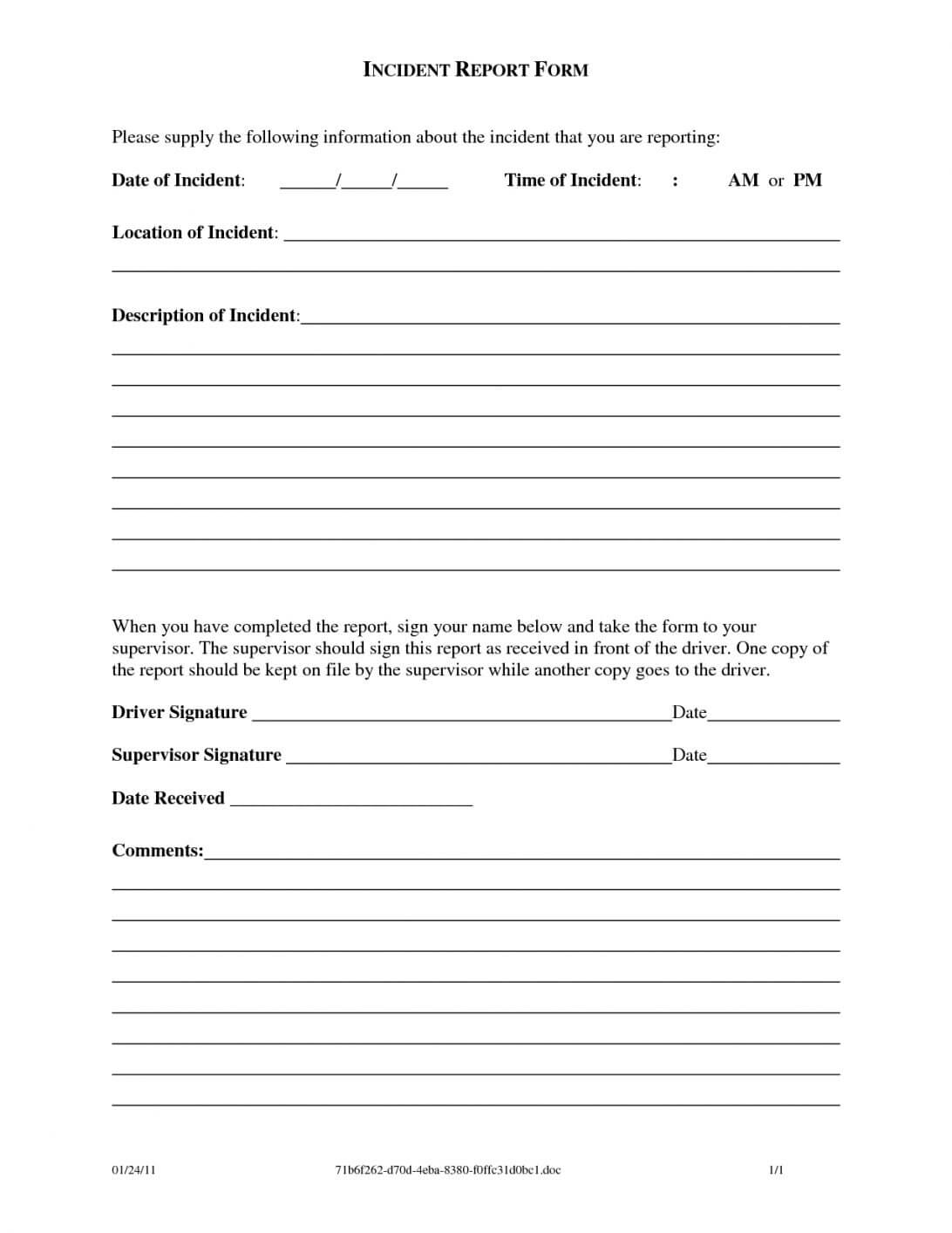 General Incident Report Form Template Australia Pdf Qld Free Pertaining To Incident Report Form Template Doc