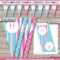 Girls Party Banner Template – Pink & Aqua With Regard To Diy Party Banner Template