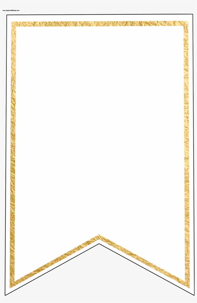 Gold Pennant Banner Blank Template Flag Banner Template For Triangle Banner Template Free