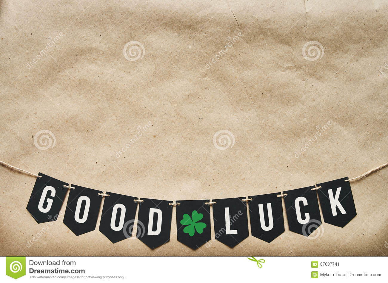 Good Luck Banner Lettering Stock Image. Image Of Craft Throughout Good Luck Banner Template