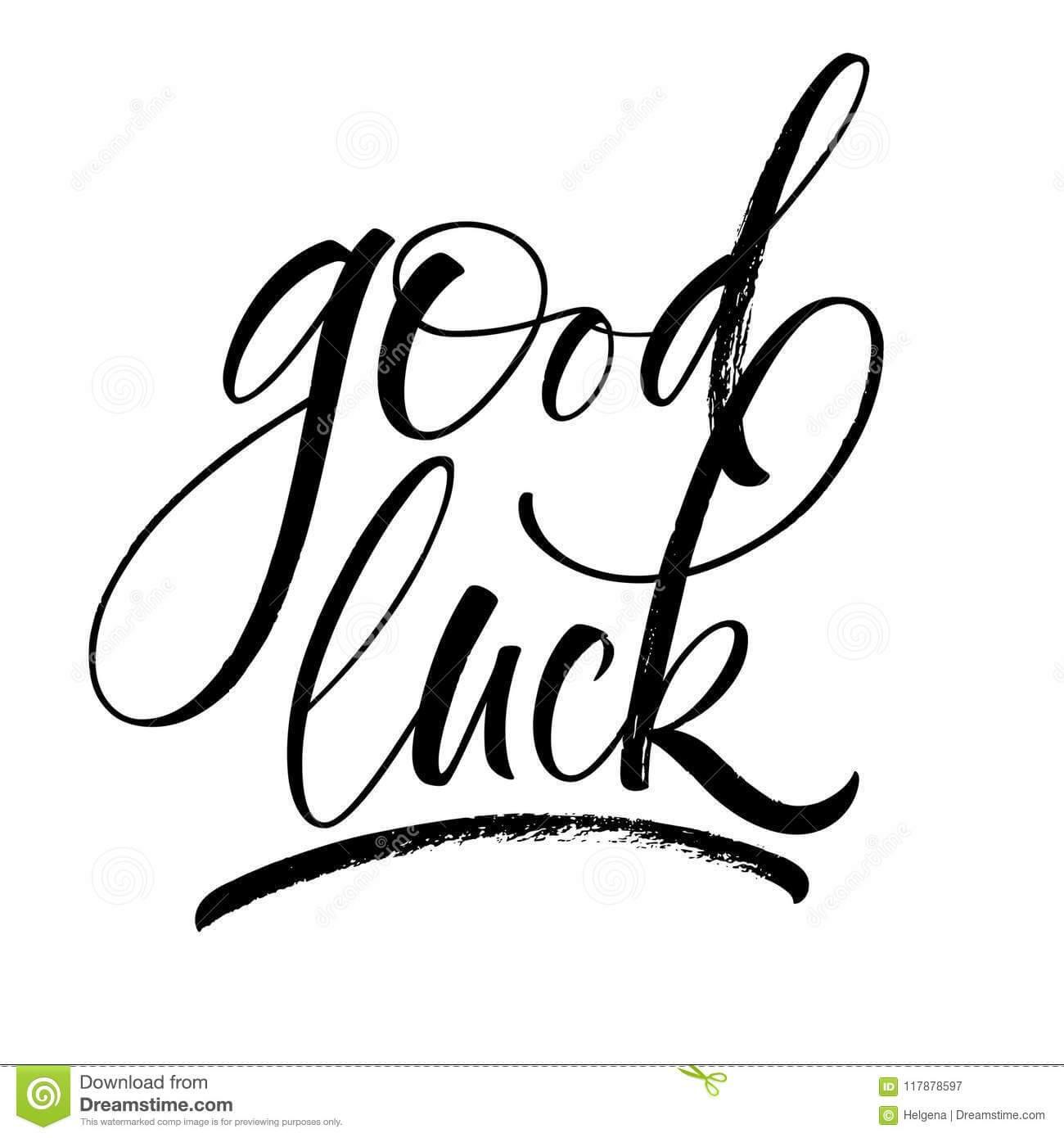 Good Luck Lettering Stock Vector. Illustration Of Goodbye In Good Luck Banner Template