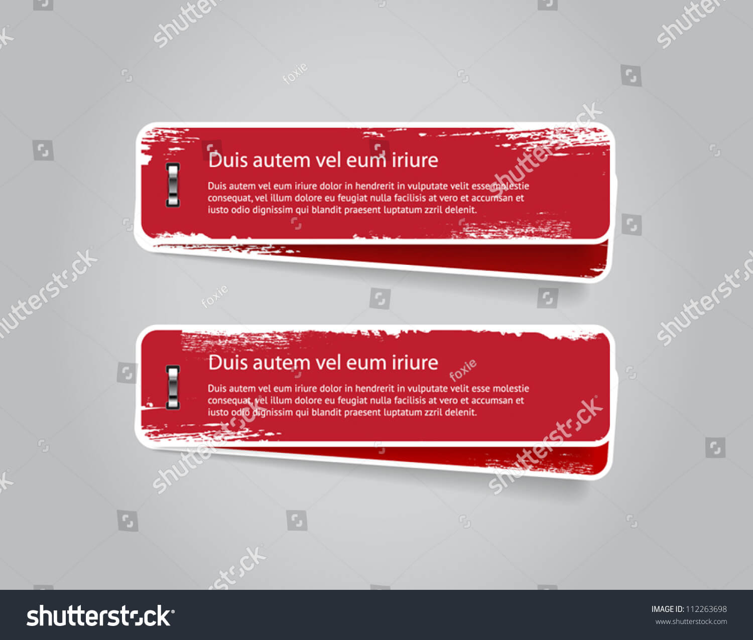 Grungy Vector Red Badges Banners Worn Stock Vector (Royalty For Staples Banner Template