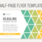 Half Page Word Template – Tunu.redmini.co In Quarter Sheet Flyer Template Word
