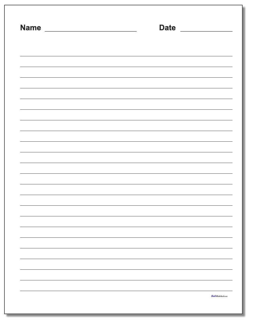 Handwriting Paper With Regard To Ruled Paper Word Template