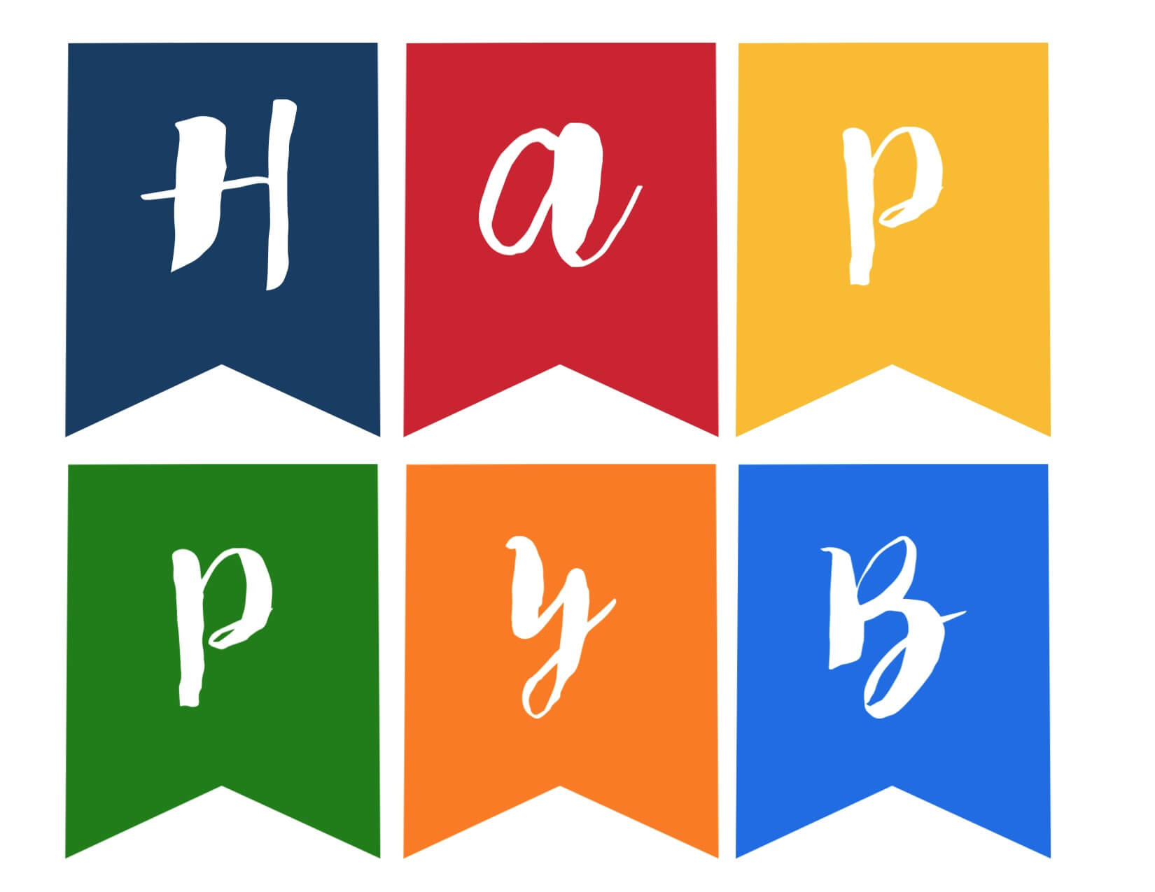 Happy Birthday Banner Free Printable - Paper Trail Design In Free Printable Happy Birthday Banner Templates