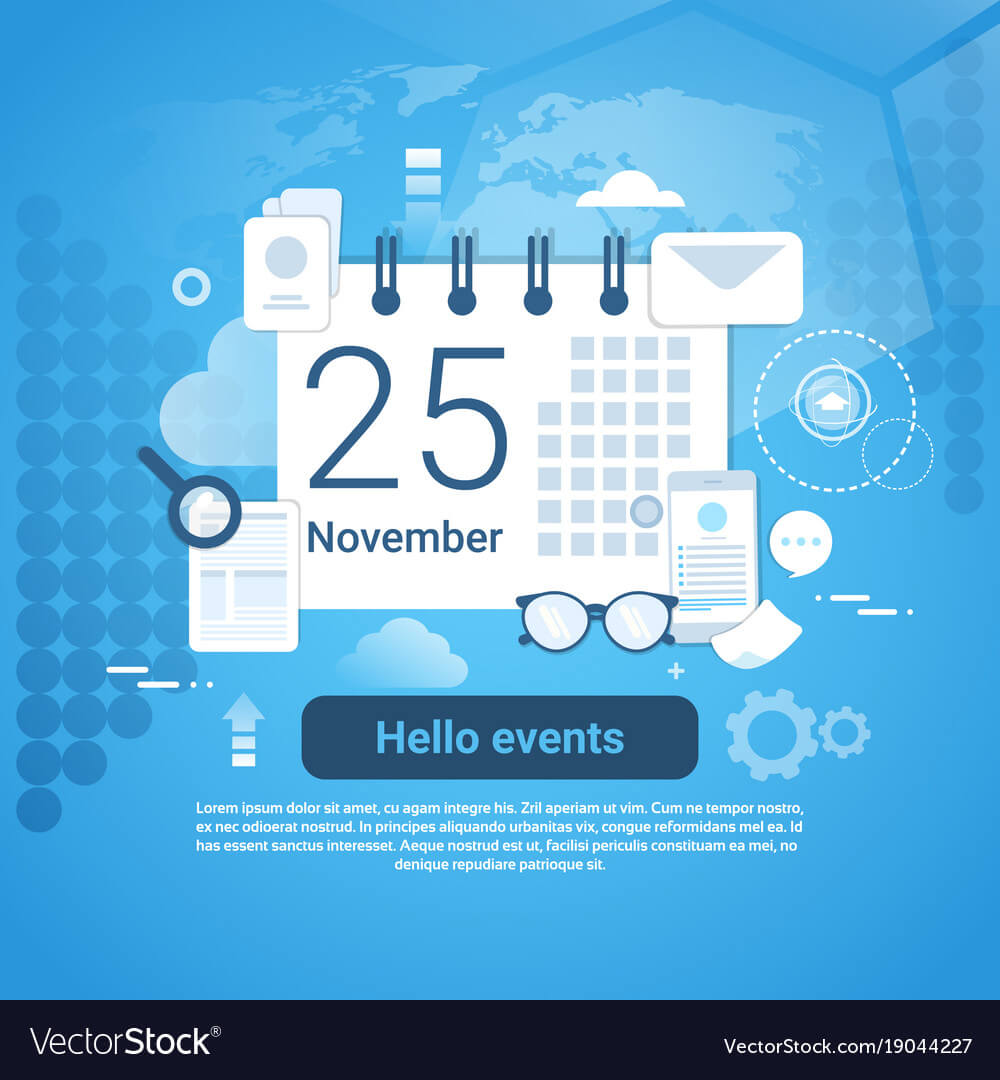 Hello Events Time Management Template Web Banner Pertaining To Event Banner Template