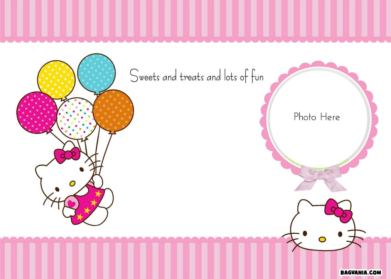 Hello Kitty Birthday Party Ideas – Invitations, Dress With Regard To Hello Kitty Birthday Banner Template Free