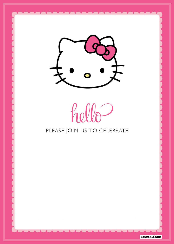 Hello Kitty Template - Colona.rsd7 Inside Hello Kitty Birthday Banner Template Free