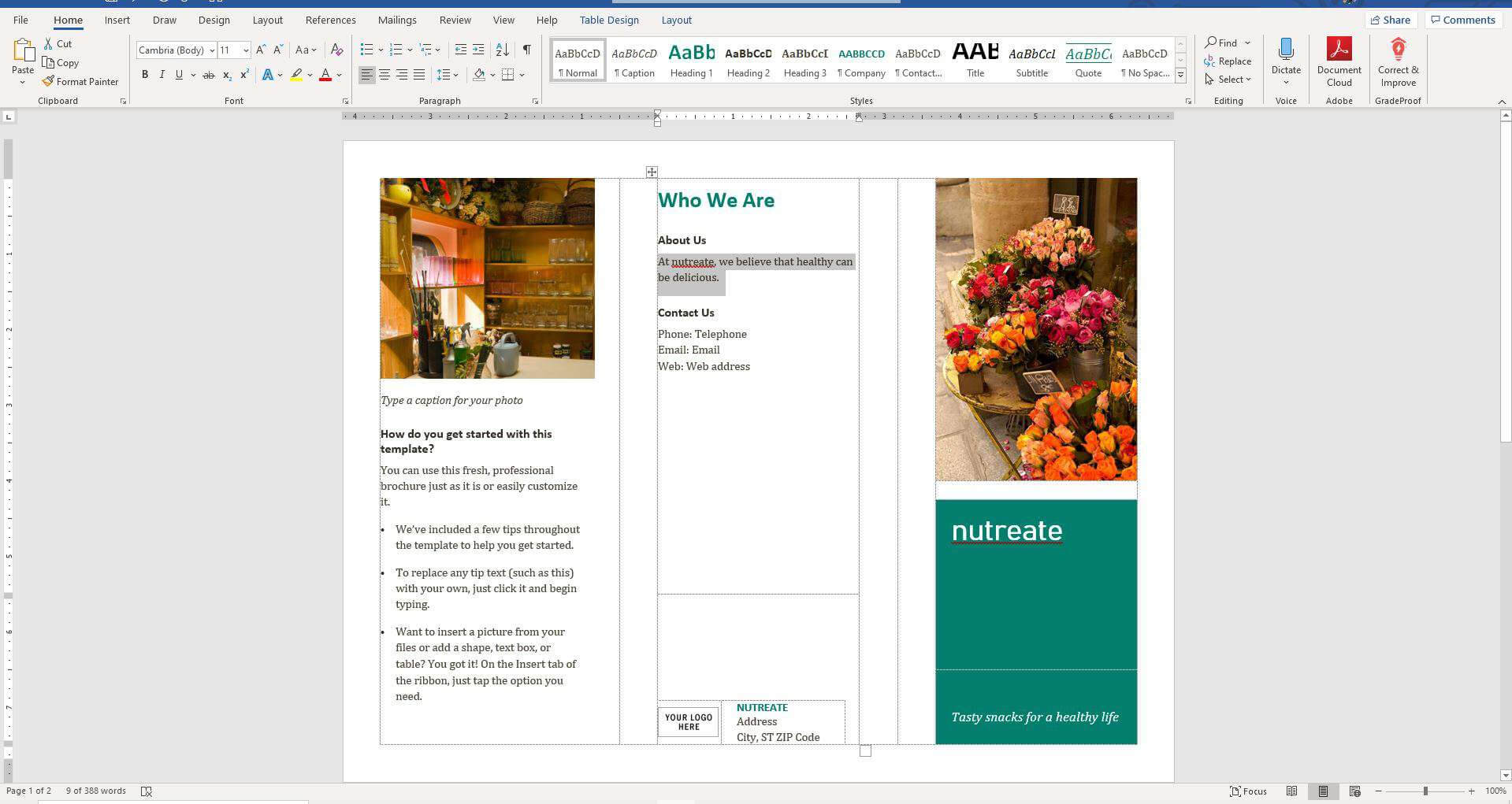 How To Make A Brochure On Microsoft Word With Regard To Microsoft Word Pamphlet Template