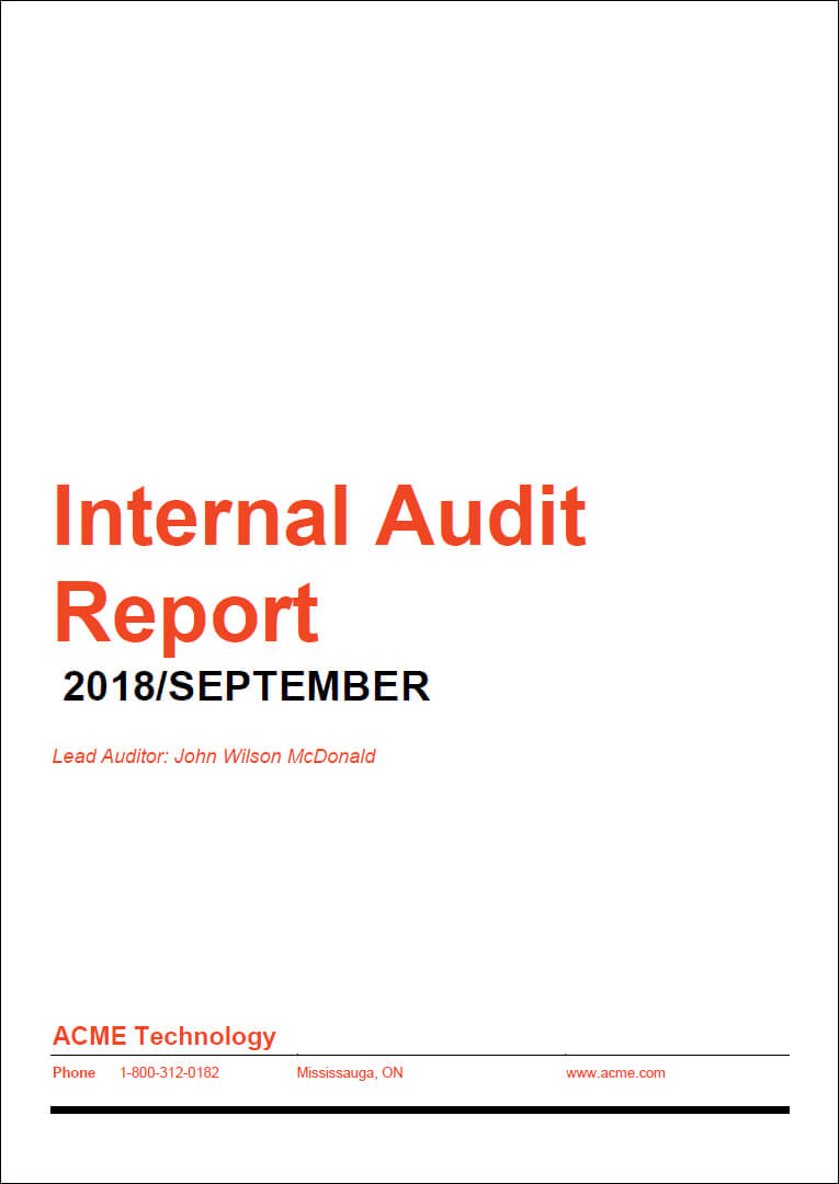 How To Prepare A High Impact Internal Audit Report Within Iso 9001 Internal Audit Report Template