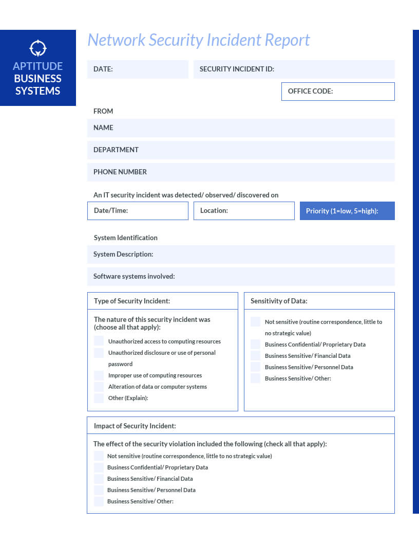How To Write An Effective Incident Report [Examples + In Incident Report Register Template