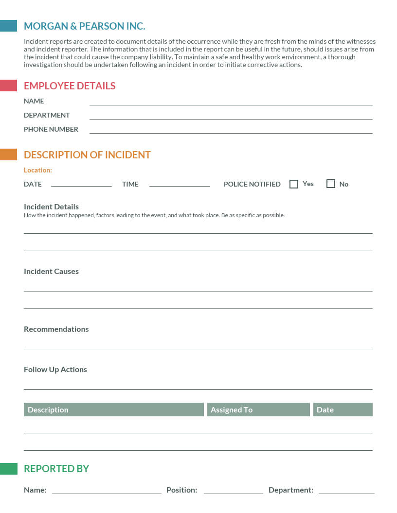 How To Write An Effective Incident Report [Examples + With Employee Incident Report Templates