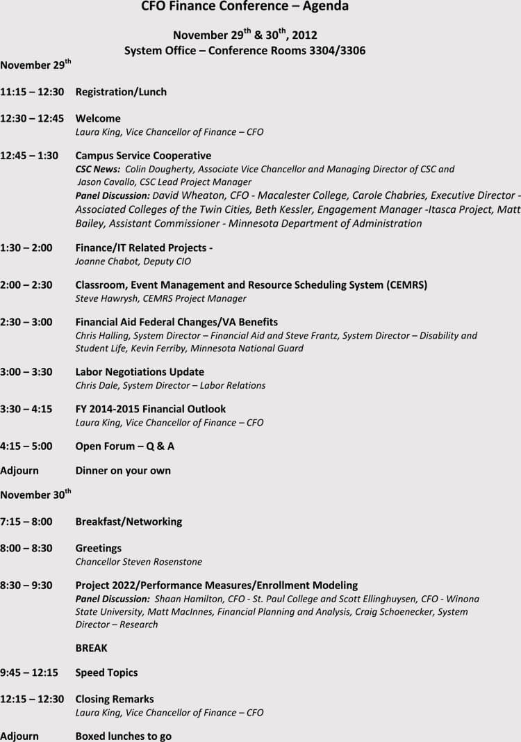 How To Write And Format A Conference Meeting Agenda (With Within Event Agenda Template Word