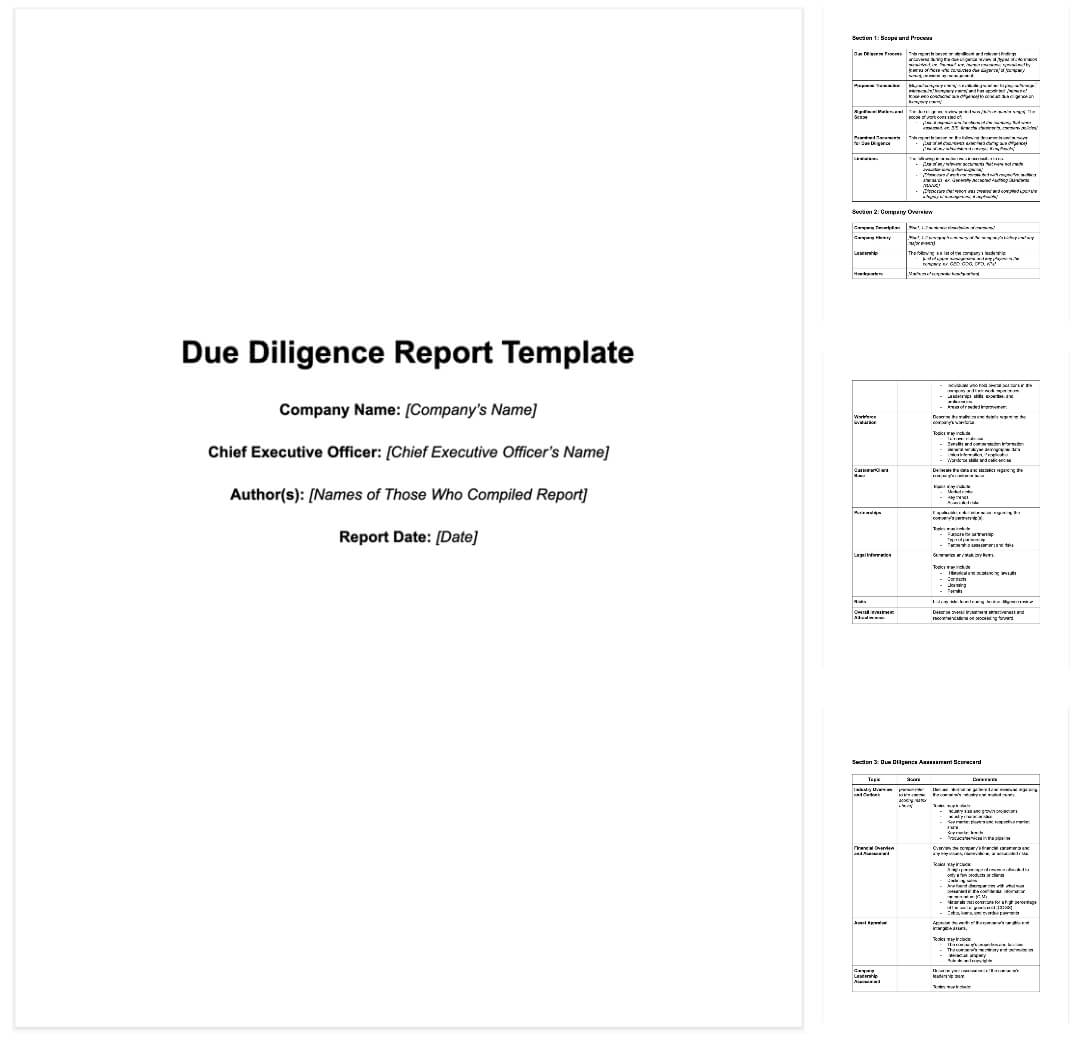 How To Write Due Diligence Report For M&a [+ Sample] Regarding Vendor Due Diligence Report Template