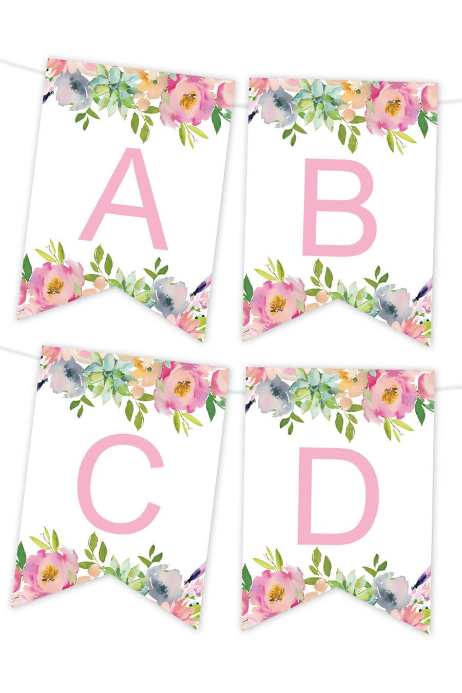 Impertinent Free Printable Banner Templates   Kenzi's Blog Inside Free Bridal Shower Banner Template