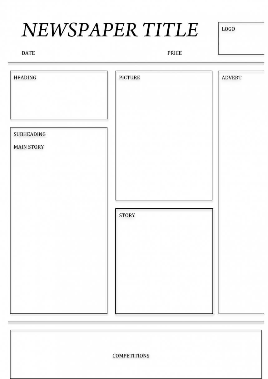 Impressive Blank Newspaper Template Microsoft Word Ideas With Regard To Blank Newspaper Template For Word