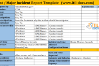 Incident Report Template | Major Incident Management – Itil Docs intended for Incident Report Template Itil