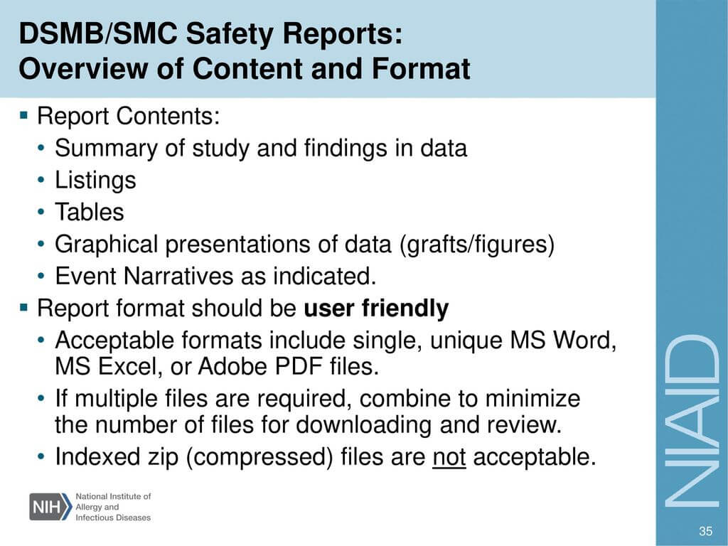 Investigator Training – Ppt Download In Dsmb Report Template
