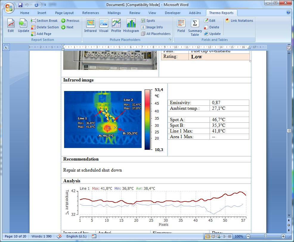 Irt Cronista   Grayess - Infrared Software And Solutions Regarding Thermal Imaging Report Template