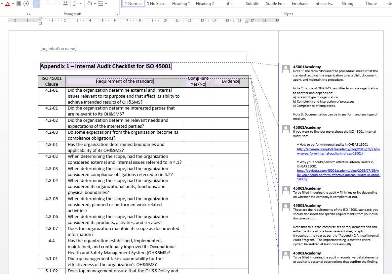 Iso 45001 Internal Audit Toolkit Regarding Iso 9001 Internal Audit Report Template