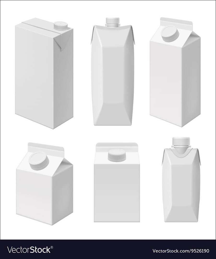 Juice And Milk Blank Packaging Template Throughout Blank Packaging Templates