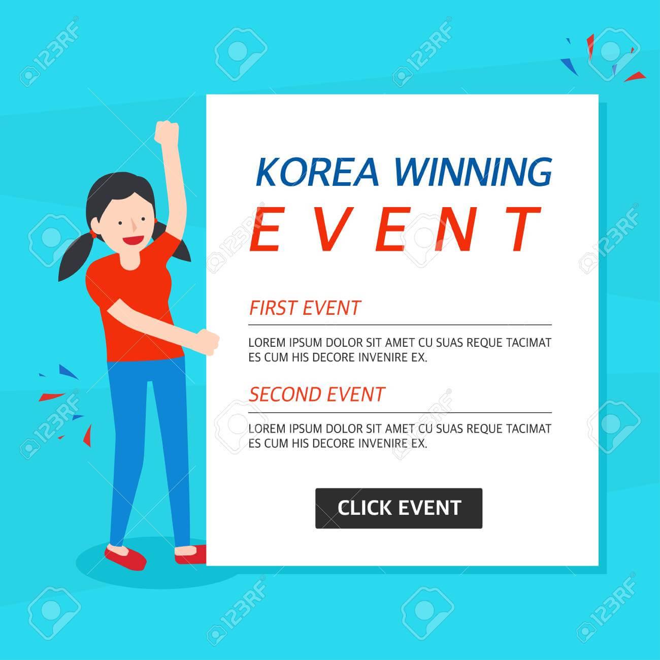 Korea Winning Event Banner Template Pertaining To Event Banner Template