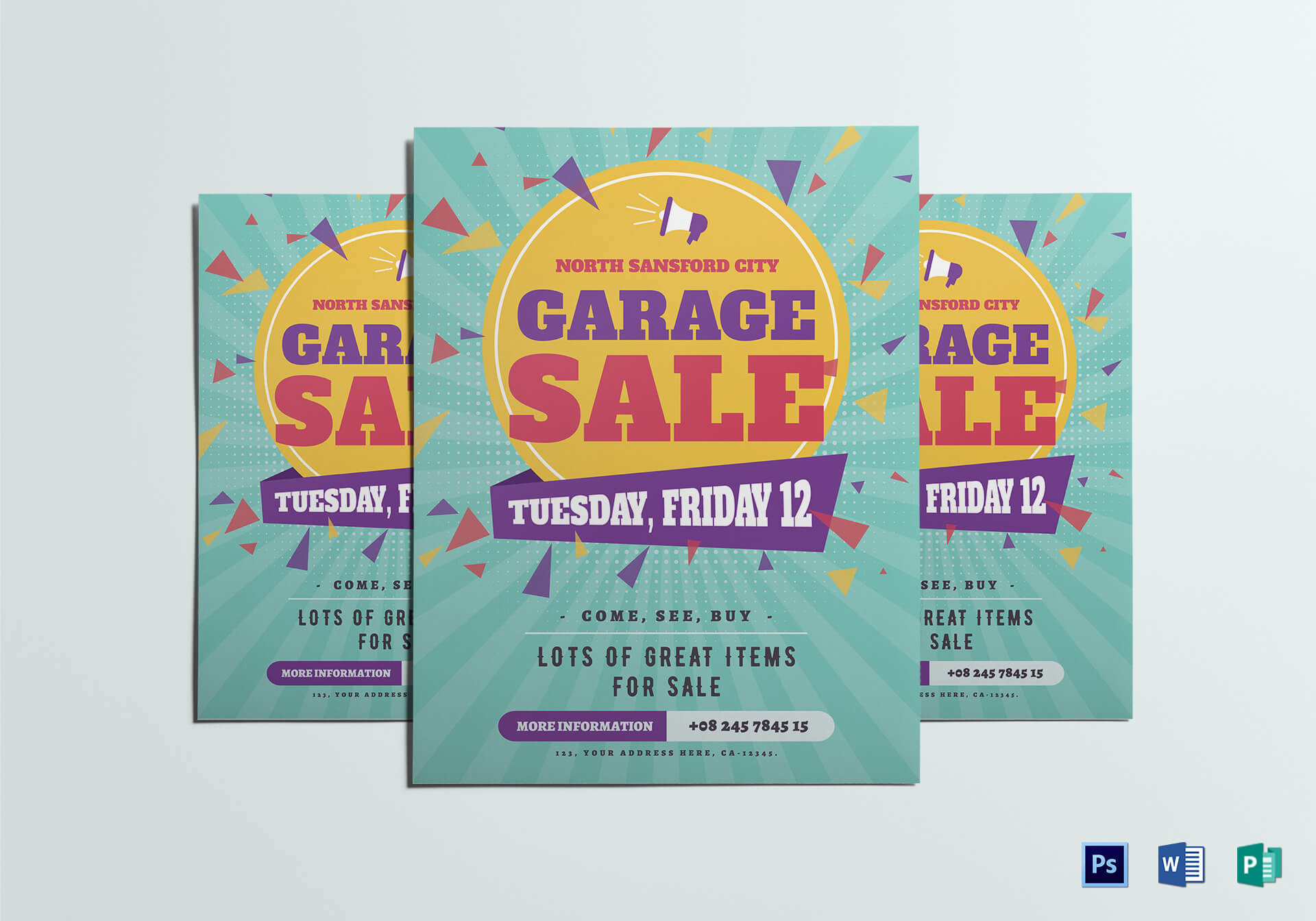 Large Garage Sale Flyer Template Pertaining To Garage Sale Flyer Template Word