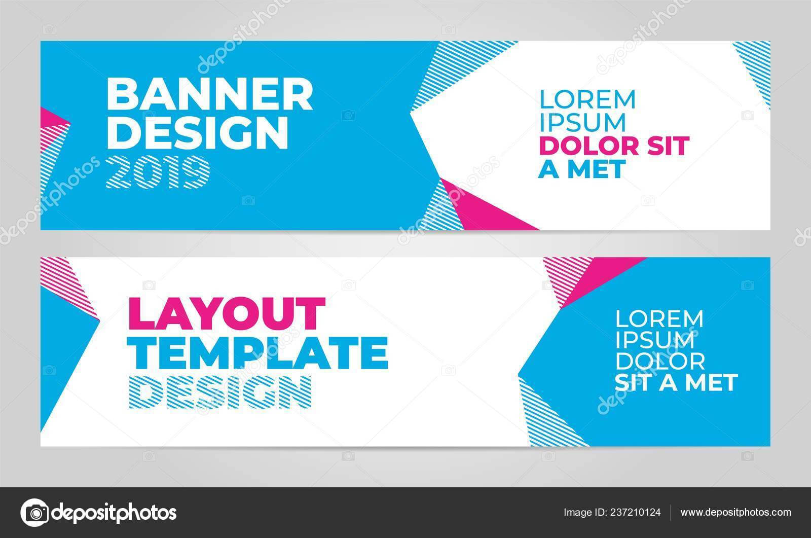 Layout Banner Template Design For Winter Sport Event 2019 Within Event Banner Template