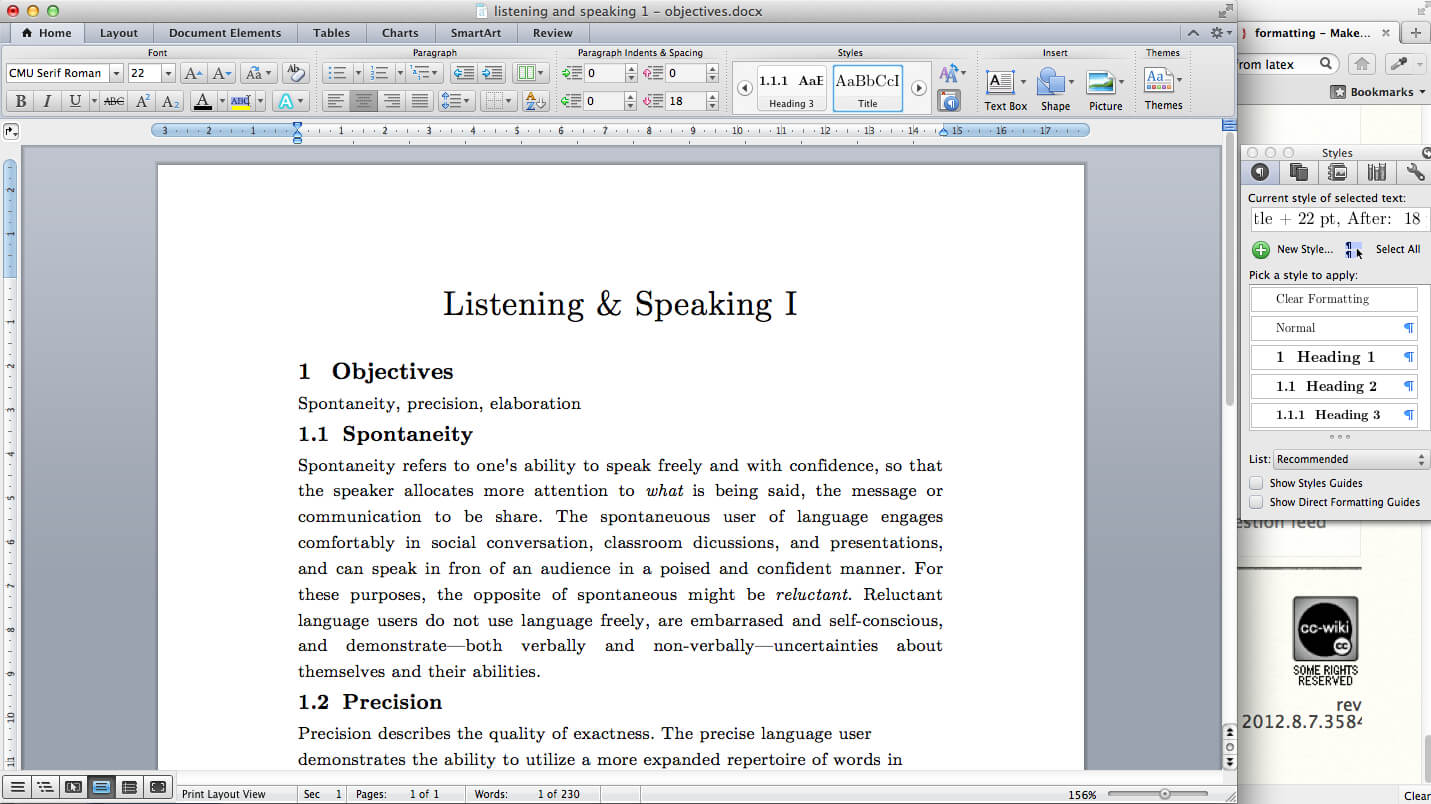Make Ms Word Document Look Like It Has Been Typeset In Latex For Ms Word Thesis Template