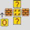 Mario Coin Block Perler Layout Perler Bead Pattern | Bead Inside Blank Perler Bead Template