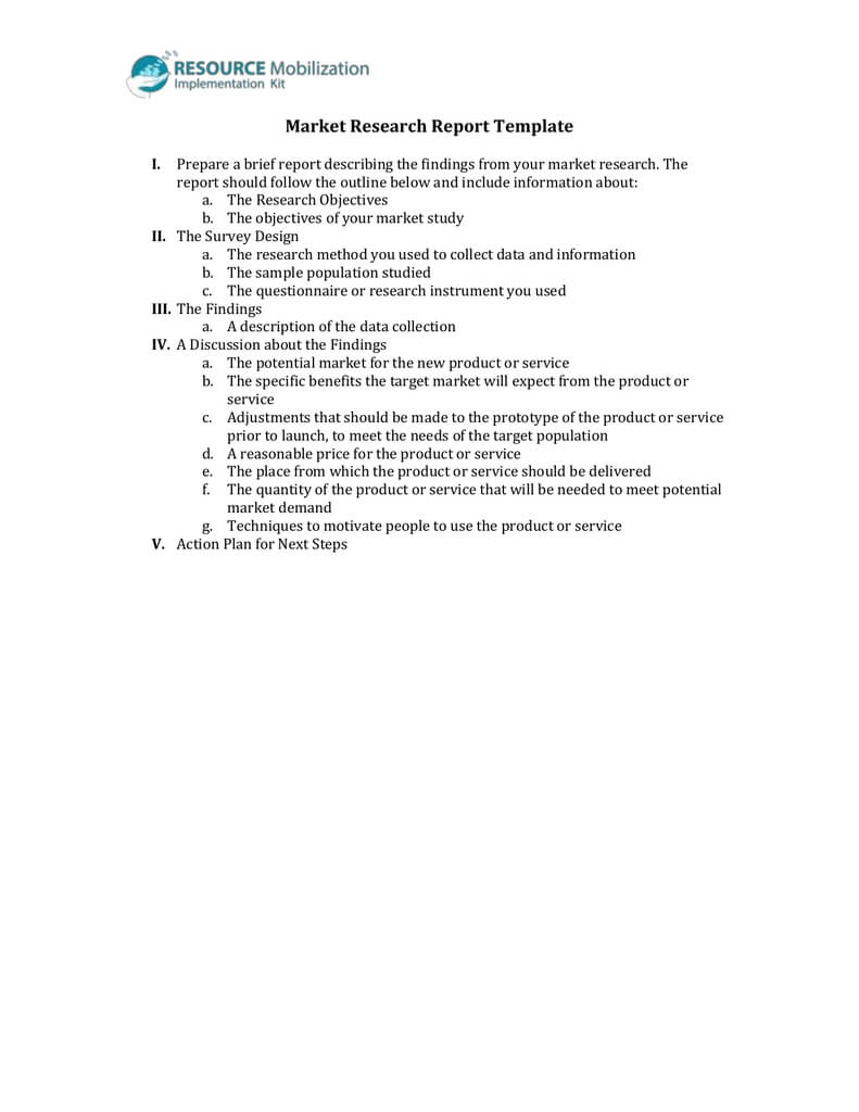 Market Research Report Template With Regard To Market Research Report Template