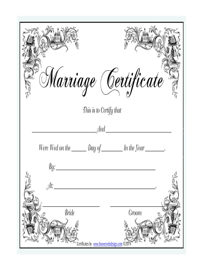 Marriage Certificate - Fill Online, Printable, Fillable For Blank Marriage Certificate Template