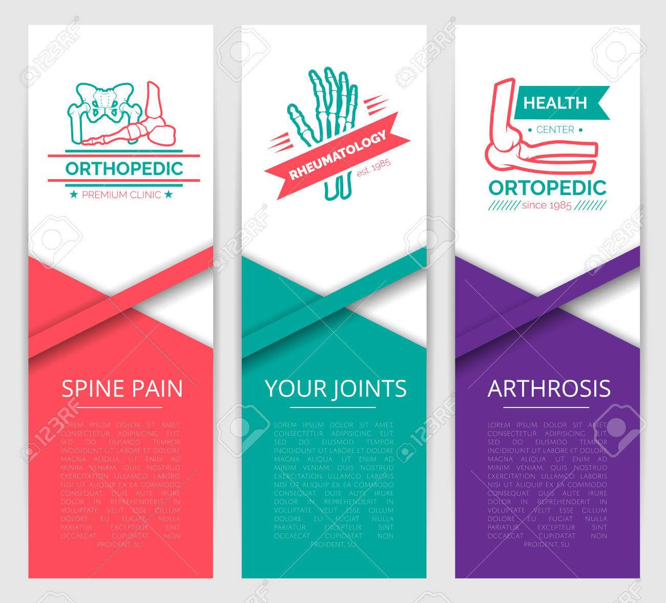 Medical Diagnostic Clinic Banner Template. Orthopedics And Rheumatology.. With Medical Banner Template