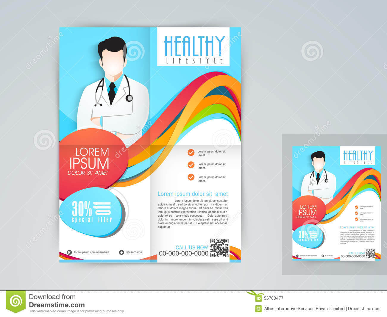 Medical Flyer, Banner Or Brochure. Stock Illustration With Regard To Medical Banner Template