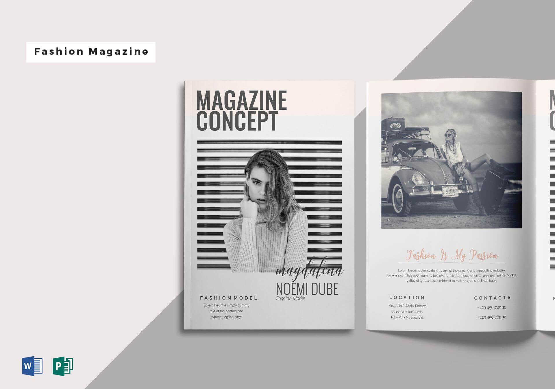 Microsoft Publisher Magazine Template Unique Fabulous Throughout Magazine Template For Microsoft Word