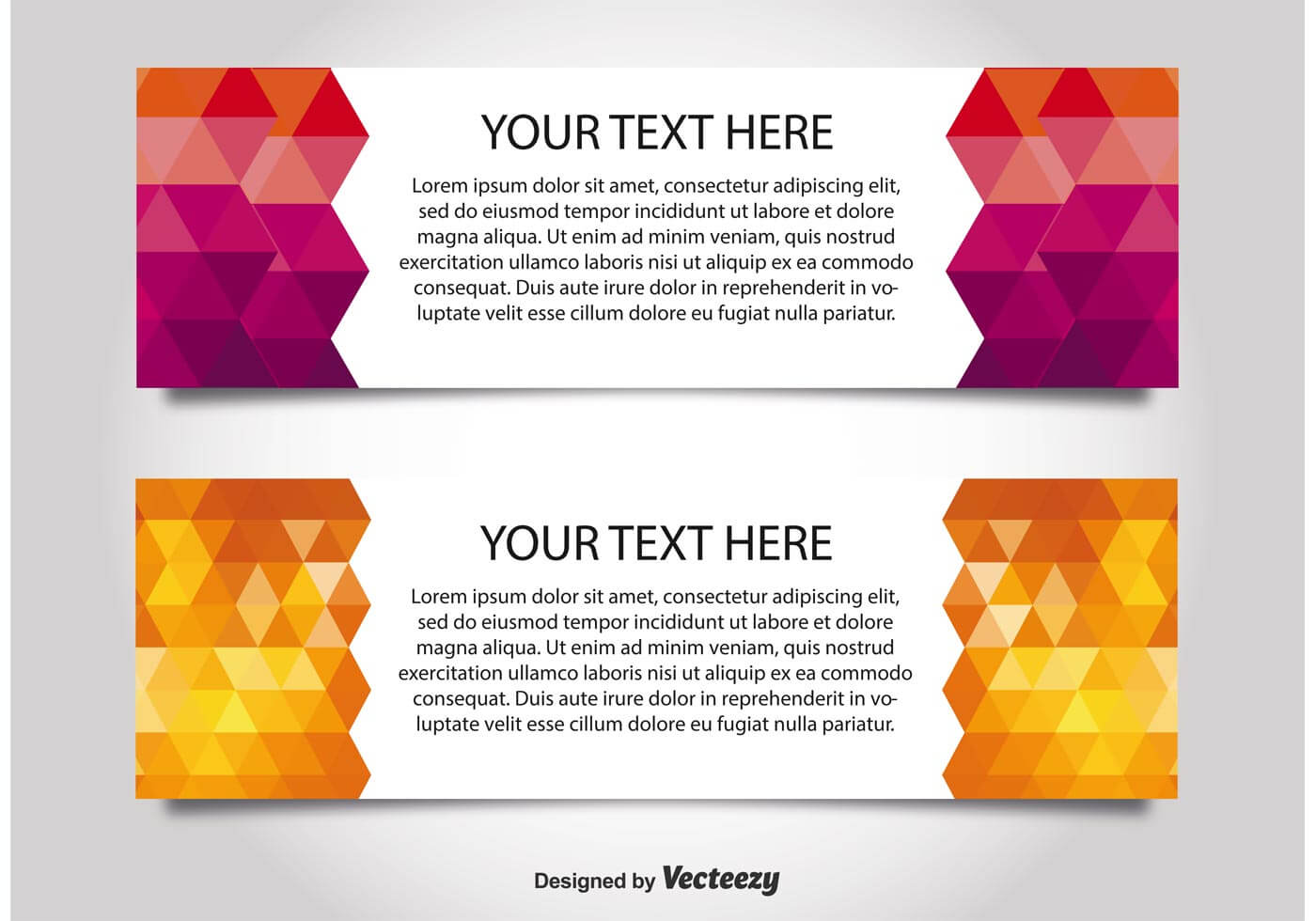 Modern Style Web Banner Templates - Download Free Vectors Within Free Website Banner Templates Download