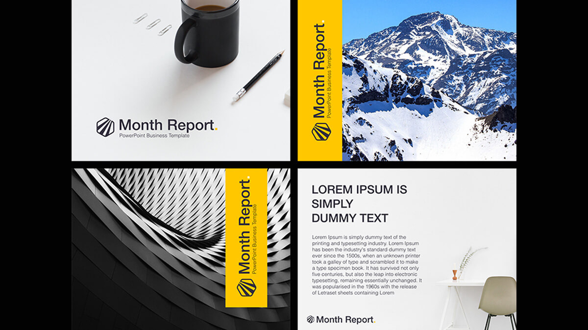 Month Report Powerpoint Template In Monthly Report Template Ppt