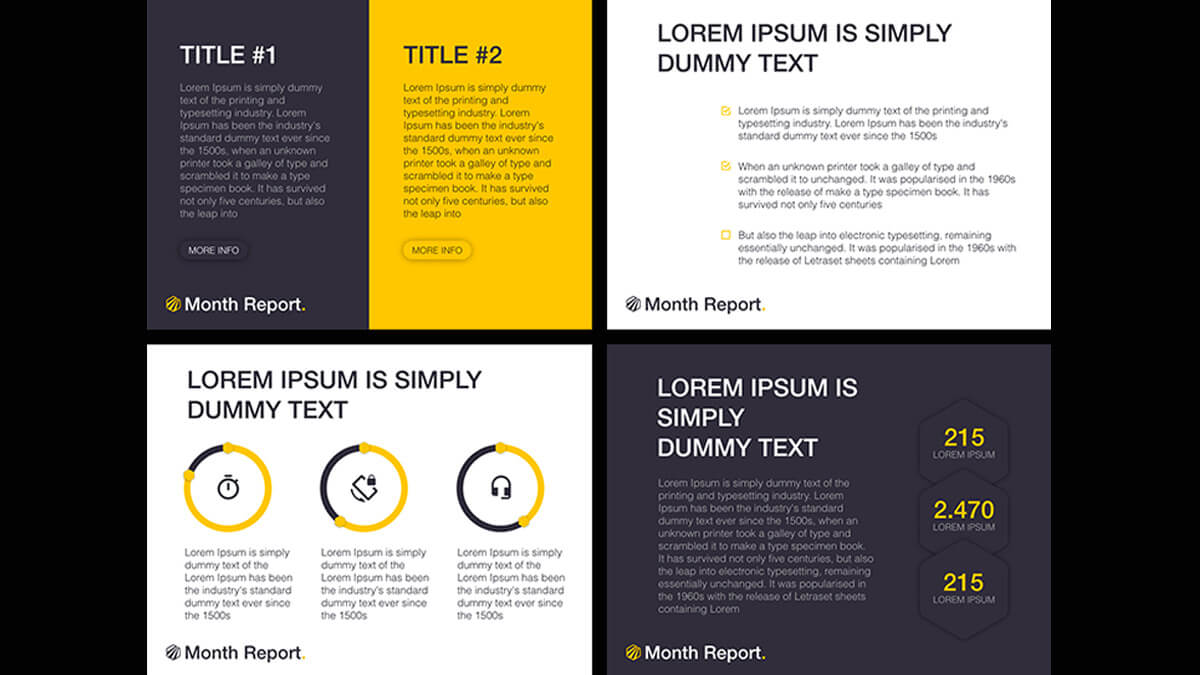 Month Report Powerpoint Template Intended For Monthly Report Template Ppt